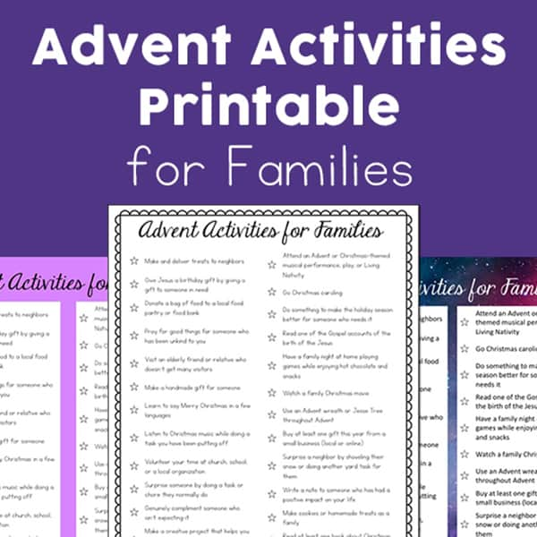 Celebrate Advent with Family: Free Advent Activities Printable